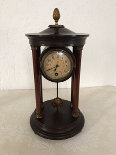 Mahogany table clock - 'Josefientje' - France - approx. 1900