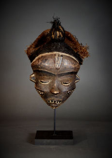 African Tribal  Mbangu Katundu Mbuya PENDE mask. Democratic Republic of the Congo.