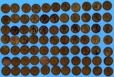 Great Britain -- Penny, 1911–1936, George V (77 coins)