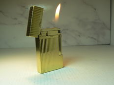 Gold plated Dupont lighter; line 2