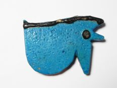 Large Egyptian faience Eye of Horus / Wedjat amulet - 45 x 34  mm