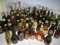 Collection of 74 Miniatures of Cognac, Armagnac and Calvados - from period 1950 until now