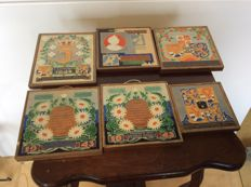 Six Cloisonné Tiles Westraven, on the Royal Family