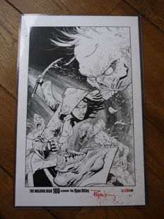Walking Dead #100 Cover Print - Signed By Artist Ryan Ottley - Limited Edition - #229/250