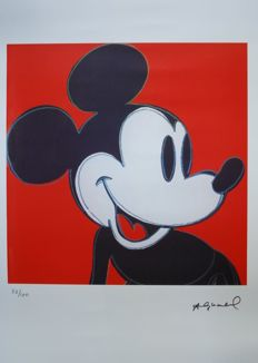 Andy Warhol - Lithograph Georges Israel Editeur - Mickey Mouse (red) - (1981)