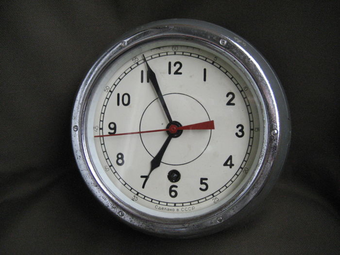 Original NAVY submarine clock СССР(USSR). 20th century (1973).