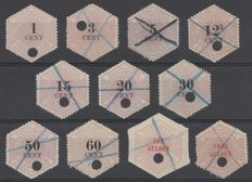 The Netherlands 1877/1903 - telegraph stamps - NVPH TG1/6 up to and including TG8/12.