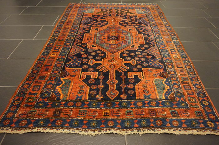 unique antique persian carpet malayer excellent wool natural dyes made in iran 130 x 200 cm