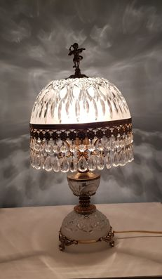 Crystal table lamp 2nd half 20th century