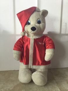Large (approx. 100 cm.) Santa Claus advertising bear of Kinder Chocolade