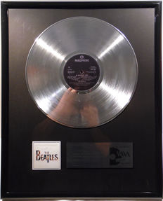 "The Beatles - 20 Greatest Hits - 12"" Parlophone Record platinum plated record by WWA Awards"