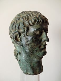 A Grand Tour period bronze head of Roman Emperor Nero - Italy - 19th century.
