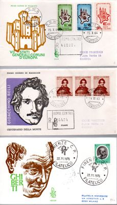 "Republic of Italy, 1961-1982 - Collection of envelopes of first day of circulation (FDC) of which 94 are from the ""VENETIA"" series"