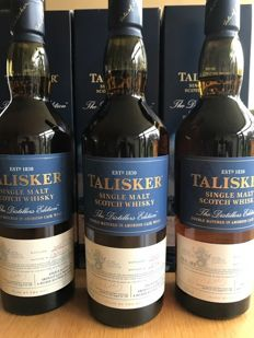 3 bottles - Talisker The Distillers Edition 2013 , 2014 and 2015