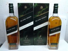 2 bottles - Johnnie Walker Island Green