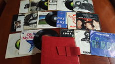 Beatles - collection of 20 singles of Beatles solo in sixties box in original sleeves.