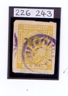 Kishangarh - Stanley Gibbons 79 2 Rs Yellow