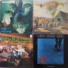 Set of 3 original albums Cuby and the Blizzards plus Harry Muskee Band, including first press mono copy of Desolation and first press Groeten uit Grolllo