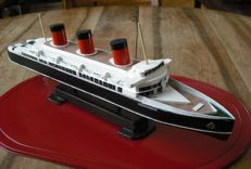 Wooden model of the boat 'Le Normandie'