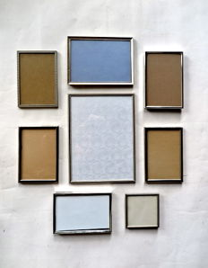 Lot of 8 silver-plated / silvered photo frames