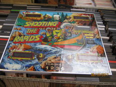 Beautiful, very heavy quality pinball machine glass pane, very rare glass pane in beautiful condition