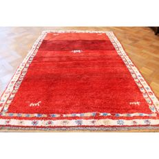 Hand-knotted carpet, Gabbeh nomad work carpet wool on wool, made in IRAN, 240 x 170 cm