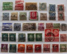 World - unordered batch with old stamps in a folder