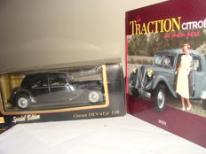 Maistro - Scale 1/18 Citroen Traction 15HP 6 cylinders1952 Special Edition and book Traction