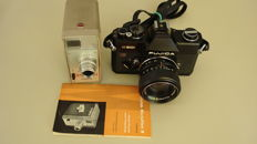 Lot of cameras consisting of a Ciné-Kodak and a Fujica