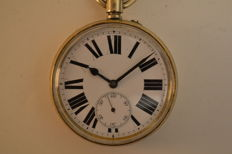 Antique Railroad - Extra big size - open face pocket watch - 1900-1910