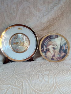 Limoges France & 24 KT gold - decorative plates