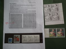 Italy, Republic - Selection of die proofs from the State Printing Institute:  Dante's Inferno, David (blue), Tiepolo