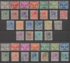 The Netherlands 1928/1930 – Double-sided and four-sided syncopated perforation - NVPH R33/R56 + R57/R70