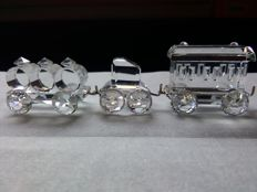 Swarovski - train three piece - Woggone petrol car 015151 passenger car 015150 tender car 015147