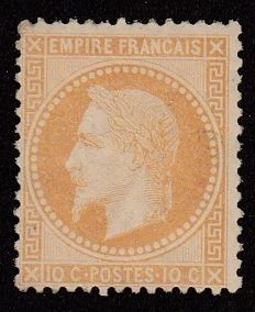 France 1860 - 10c bistre - Yvert no. 28B