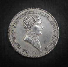 France – 'Napoléon I / Agents de Change de Lyon' 1803 Token by Mercié – Silver.