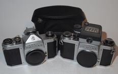 Asahi Pentax H2 (S2) and Pentax SV bodies - single-lens reflex - late 1950s