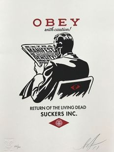 Shepard Fairey (OBEY) - Obey With Caution Letterpress