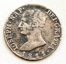 Spain - Jose Napoleon - 4 reales in silver - 1811 - Madrid