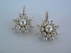 Vintage style earrings with pearls - first half of the 20th century