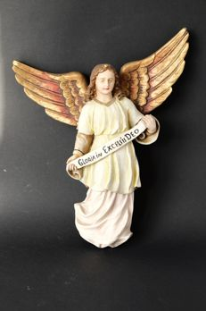 Christmas Angel 'Gloria in Excelsis Deo' of plaster