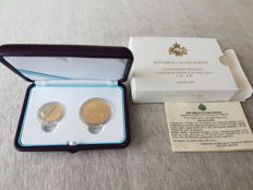 San Marino - €20 and €50, 2007 'Convivenza Sociale' (total of 2 coins) - gold 900