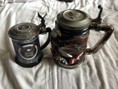 Three limited edition items beer mugs Harley Davidson & Zippo - ca. 2000