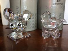 Swarovski - Baby buggy - Large mouse