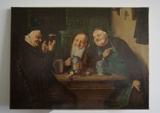 Ed. Grützner - Drinking Monks