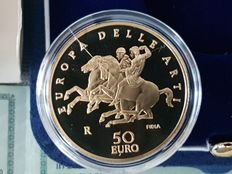 Italy -- 50 euro, 2006 'Europa dell Arti' (Europe of the Arts) -- Greece -- Gold