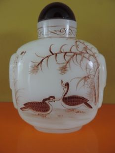 Snuff bottle in glass - China - second half 20th century