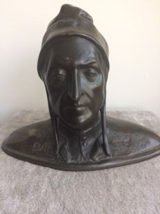 Bronze bust of Dante Alighieri - Italy - first half 20th century