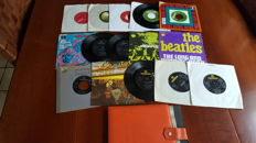 "Beatles - 7"" collection 12 Singles and 3 EP's in Sixties Box from various countries."