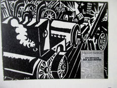 Romain Rolland: Revolte der Maschinen with 33 woodcuts by Masereel  (1889 - 1972)